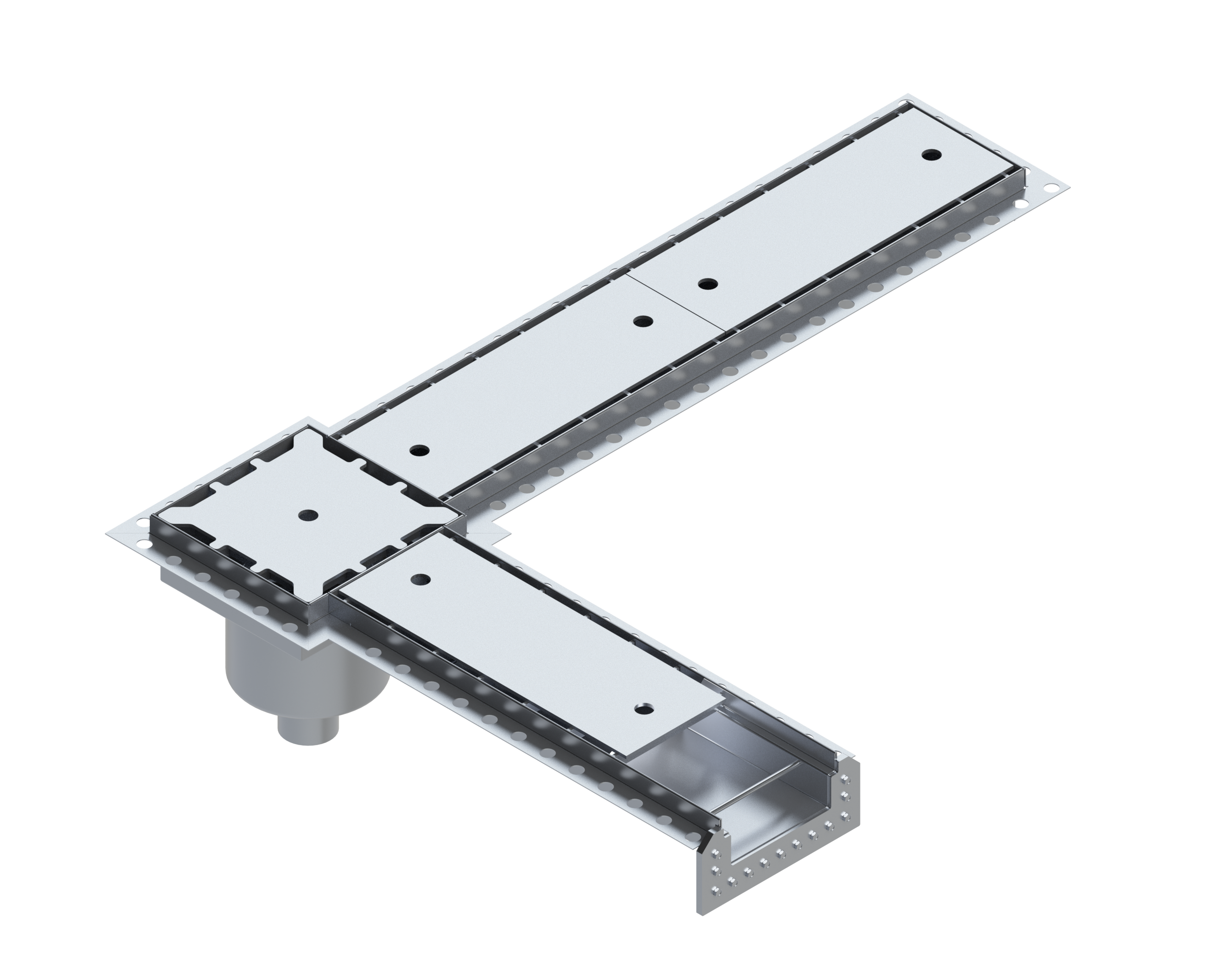 Modular stainless steel drain channels